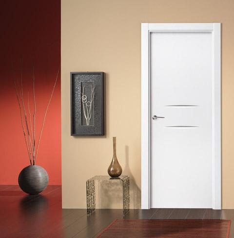 Puertas lacadas for Puertas de madera para interiores baratas