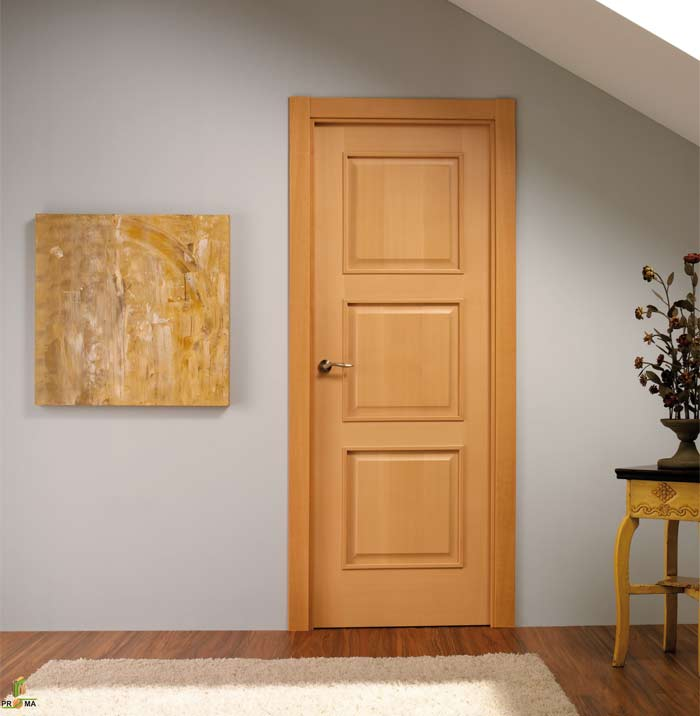 Puertas moldura plana for Puertas de madera sodimac