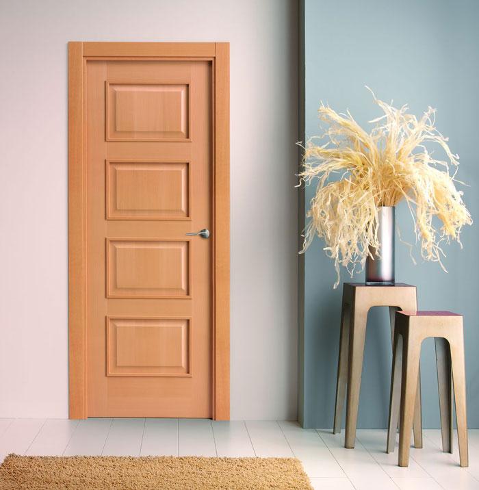 Puertas moldura plana for Puertas madera interiores catalogo