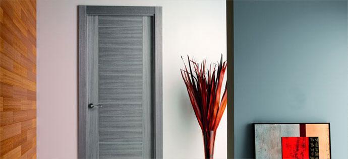 Proma fabricantes de puertas for Puerta interior gris