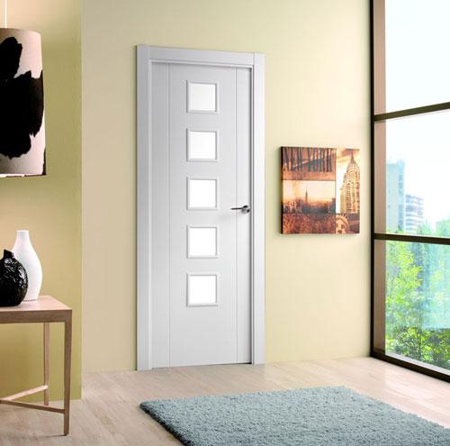 Puertas lacadas for Precio puerta madera interior