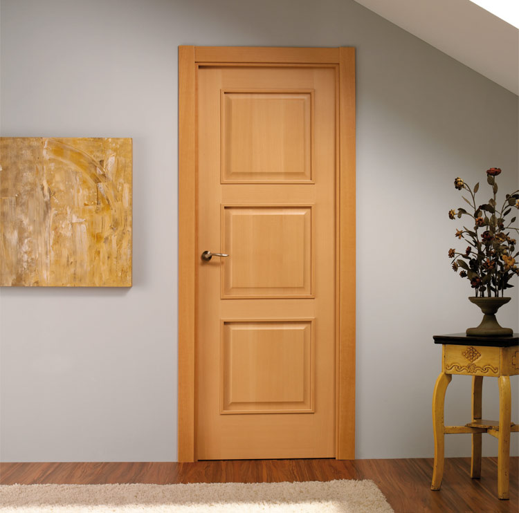 Puertas moldura plana for Puertas en madera para interiores