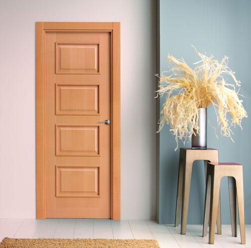 Puertas moldura plana for Catalogo de puertas de madera para interiores