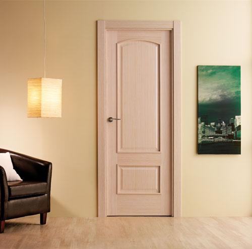 Puertas moldura plana for Puertas madera barcelona