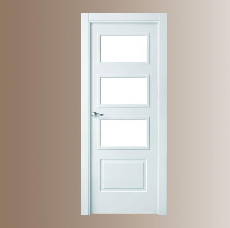 Puertas lacadas for Puertas madera y cristal interior