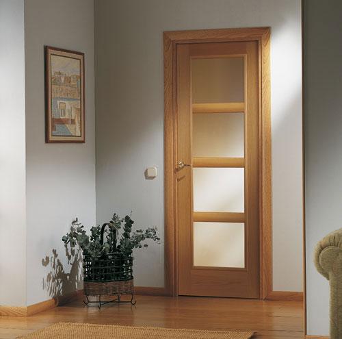 Puertas moldura plana - Colores de puertas de madera interiores ...