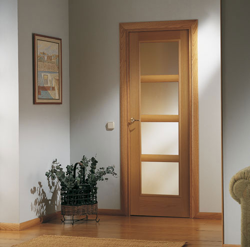 Puertas moldura plana for Puertas para casa interior