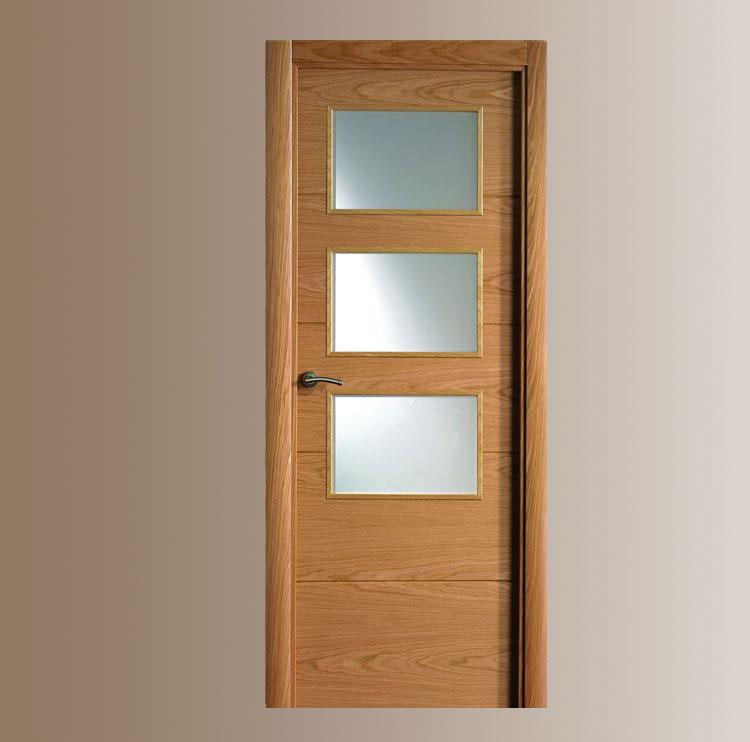 Puertas vega for Puertas madera y cristal interior